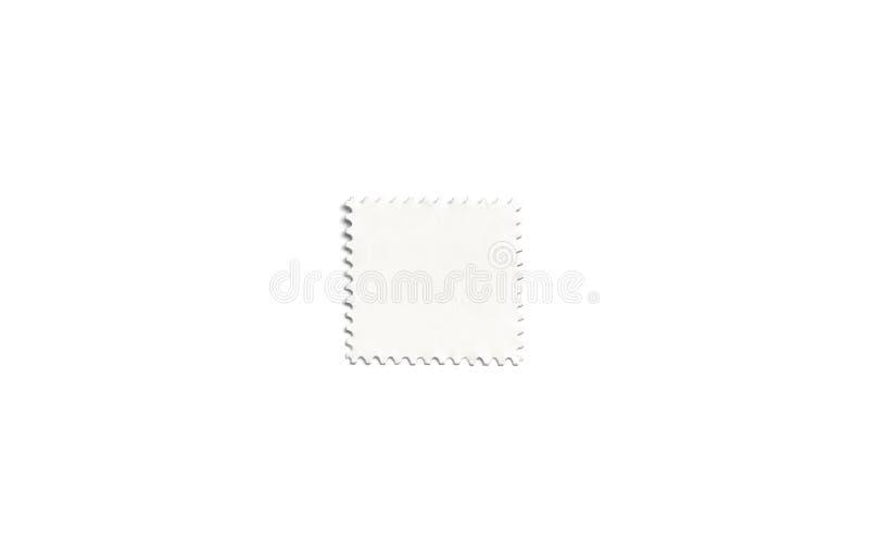 Briefmarkemodell des freien Raumes weißes quadratisches, lokalisiert lizenzfreie abbildung