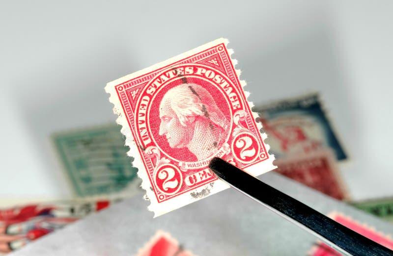 Briefmarkensammeln stockfotos