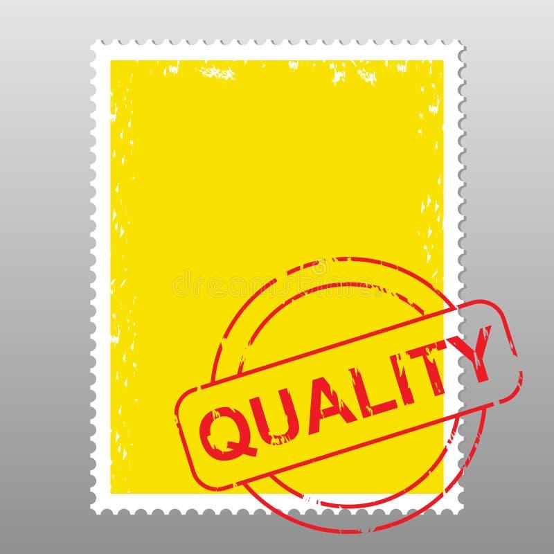 Briefmarkequalität stock abbildung