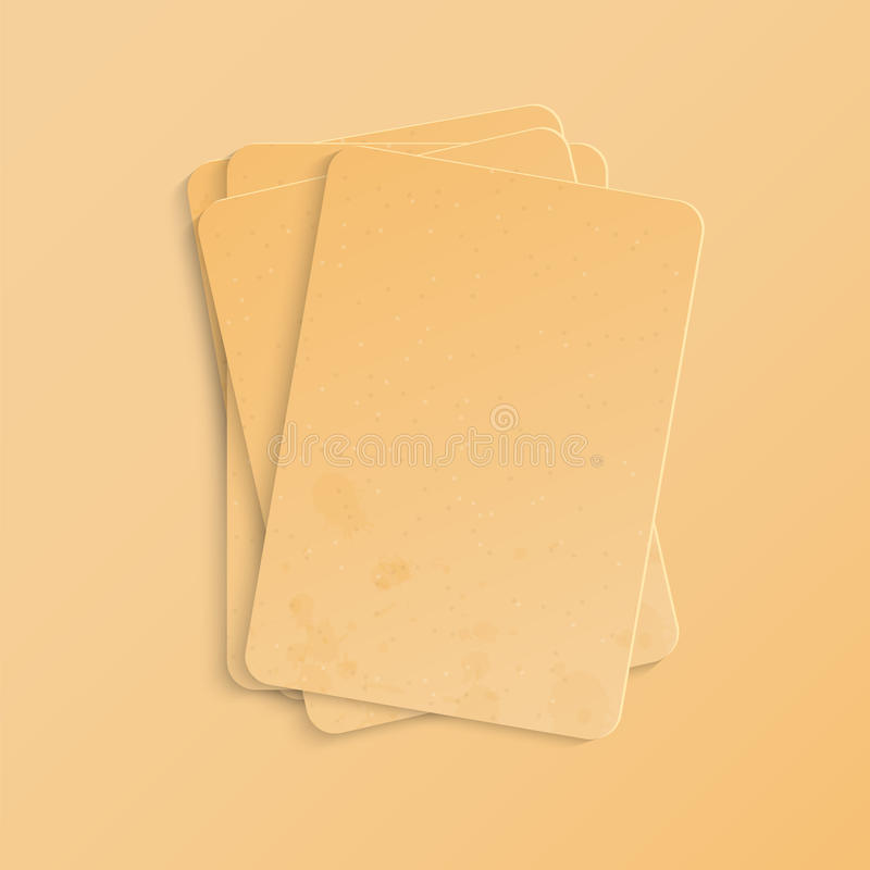 Briefpapier stock abbildung