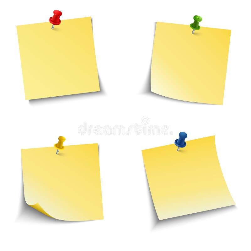 Briefpapier mit Stoßstift stock abbildung