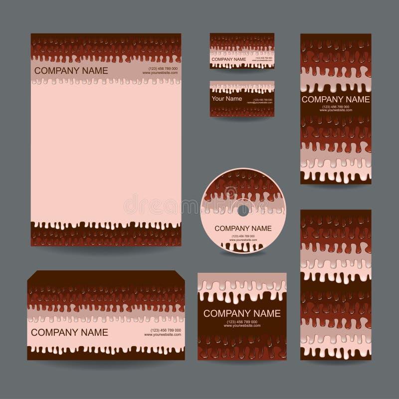 Briefpapierauslegung stellte in vektorformat ein stock abbildung