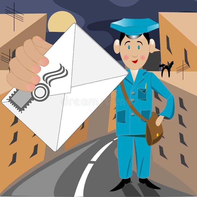 Briefträger lizenzfreie abbildung