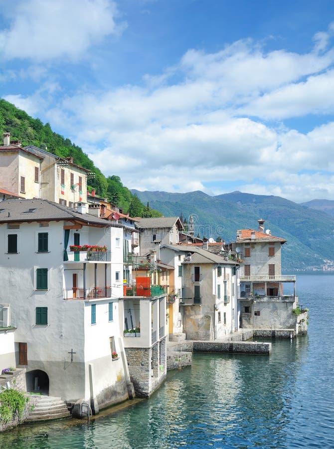 Brienno, Meer Como, Lombardije, Italië stock foto