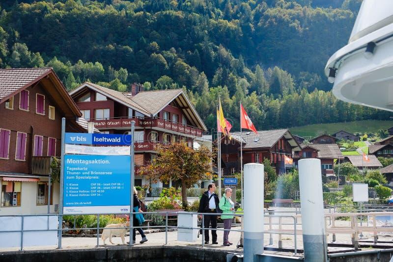Brienz rejs, Switzerland obraz royalty free