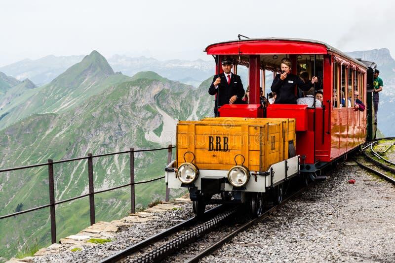 Brienz-Rothorn-chemin de fer image stock