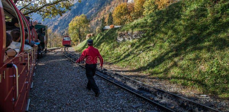 brienz-Rothorn Pociąg, Szwajcaria fotografia stock