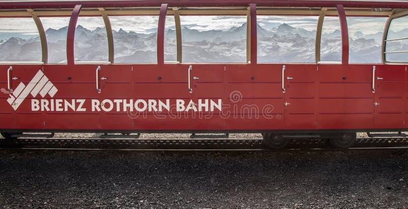 brienz-Rothorn Taborowy Szwajcaria - Parowy Pociąg VII zdjęcia stock