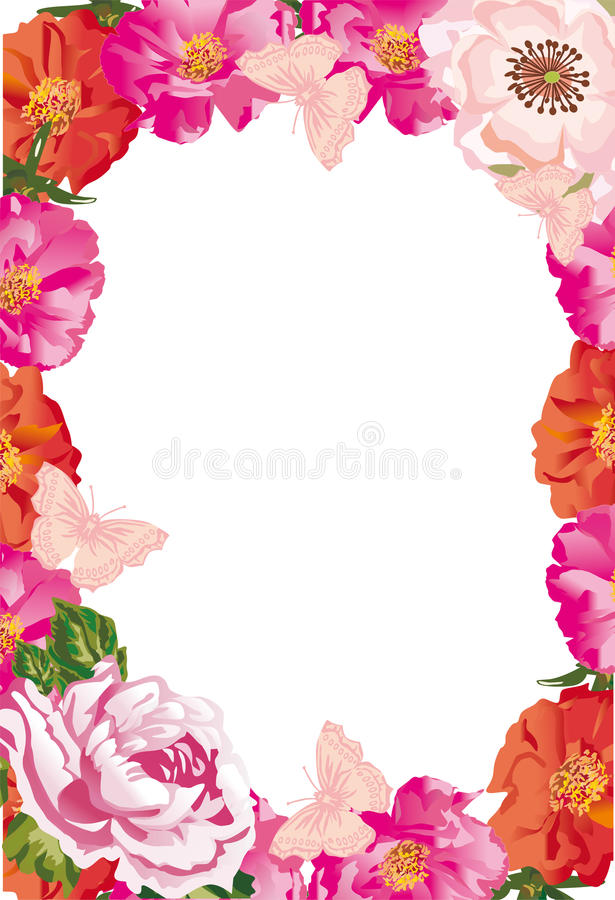 Brier frame isolated on white