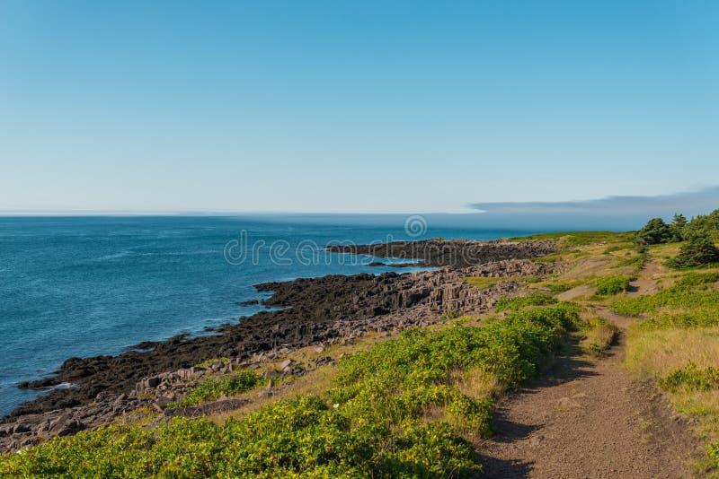 Brier-Insel-Küstenlinie stockfotos