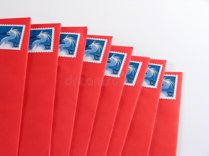 Brieven aan Post stock afbeelding