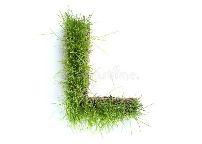 Brieven die van gras worden gemaakt royalty-vrije stock fotografie