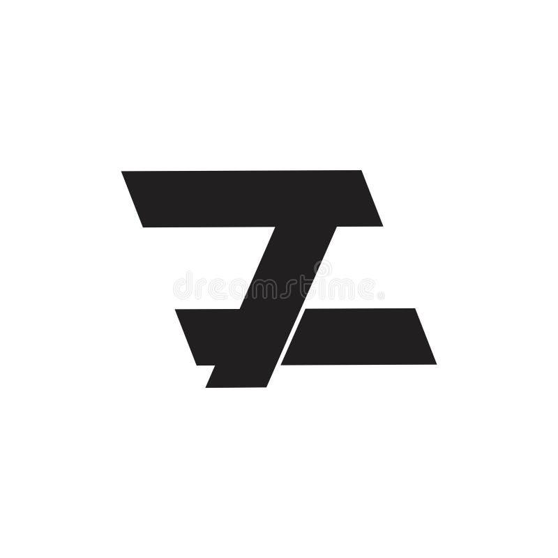 Brieven 7 eenvoudige geometrische het embleemvector van z vector illustratie