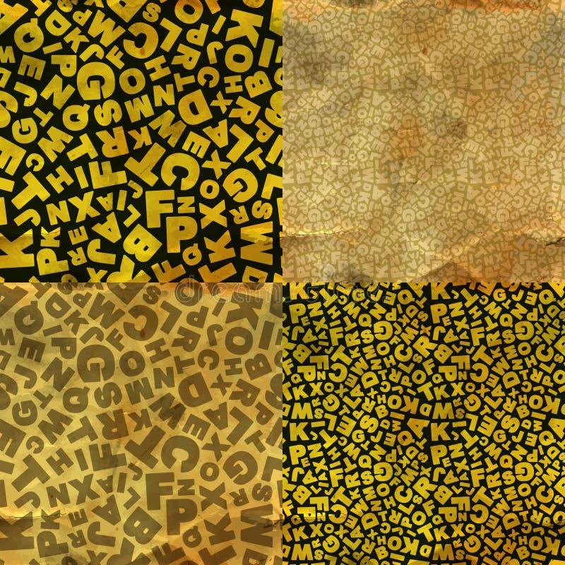 Brieven. Naadloos patroon. stock illustratie