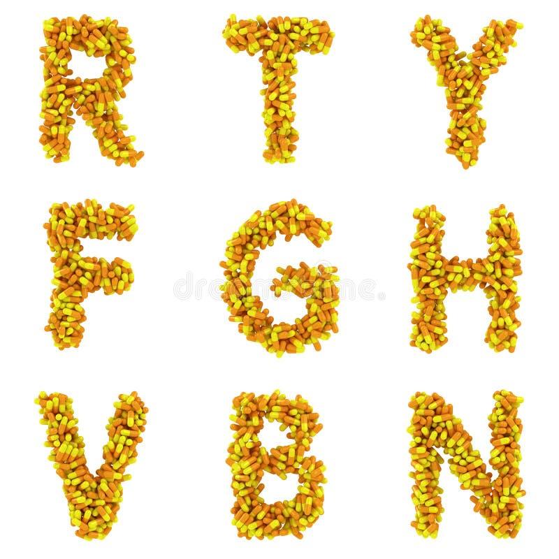 Brieven van alfabet royalty-vrije illustratie