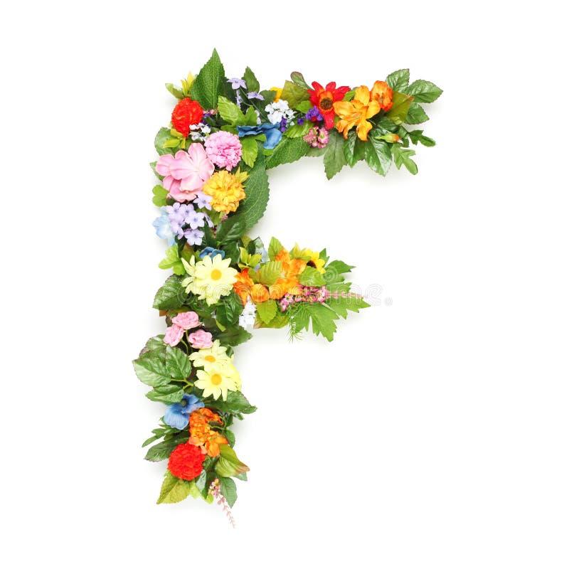 Brieven van bladeren en bloemen stock afbeeldingen