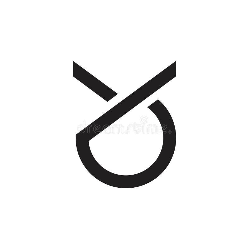 Brieven yo of oy eenvoudige geometrische embleemvector vector illustratie