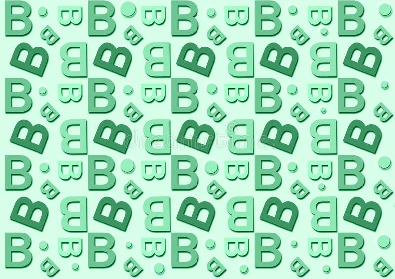 Brievenb patroon op de groene achtergrond van de schaduwenkleur stock illustratie