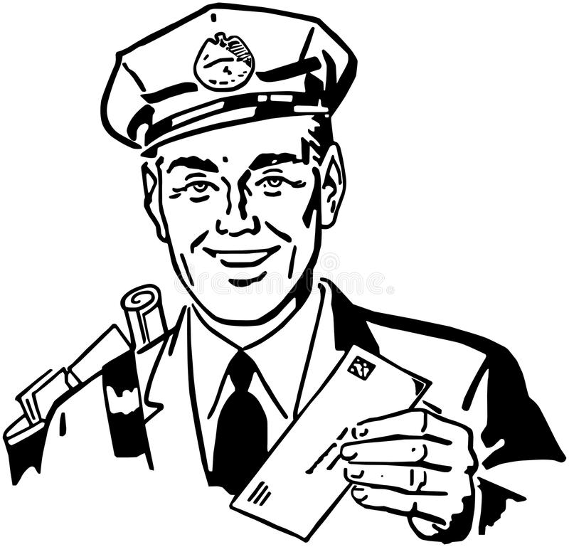 brievenbesteller vector illustratie