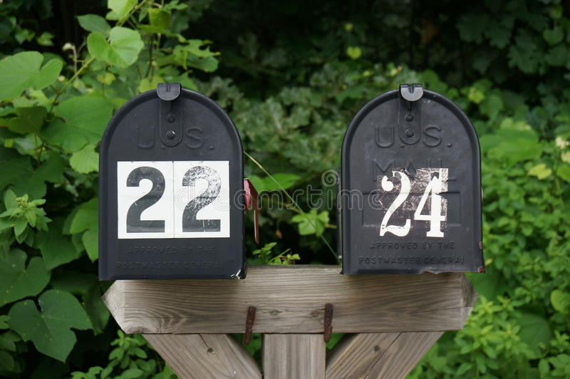 brievenbussen royalty-vrije stock afbeelding