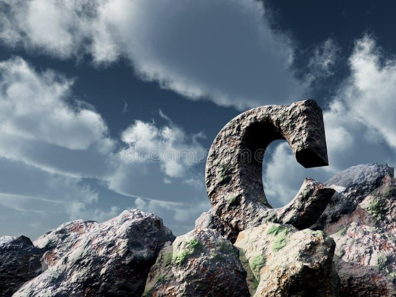 Brievenc rots onder blauwe hemel stock afbeeldingen