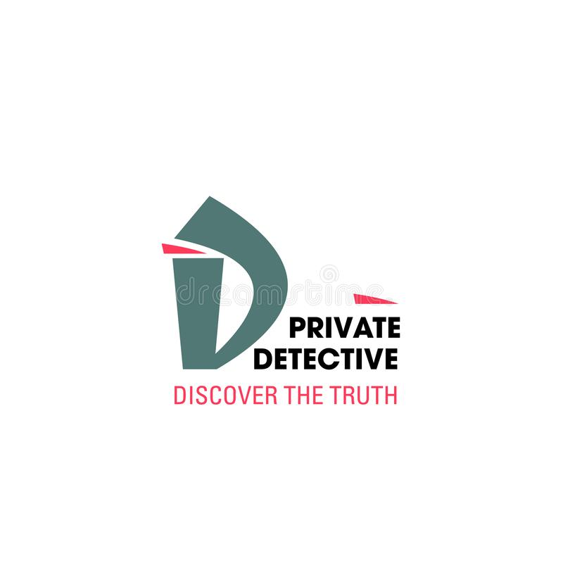Brievend pictogram, detectiveagentschap vector illustratie