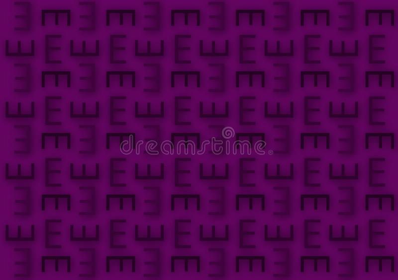 Brievene patroon op de purpere achtergrond van het schaduwenbehang vector illustratie