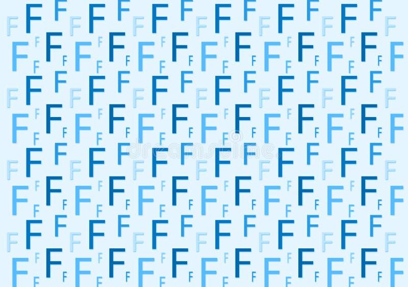 Brievenf patroon in verschillende gekleurde blauwe schaduwen voor behang vector illustratie