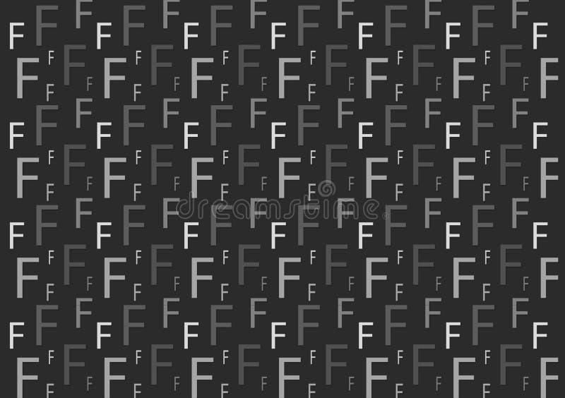 Brievenf patroon in verschillende gekleurde grijze schaduwen voor behang stock illustratie