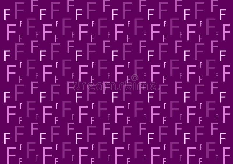 Brievenf patroon in verschillende gekleurde purpere schaduwen voor behang vector illustratie