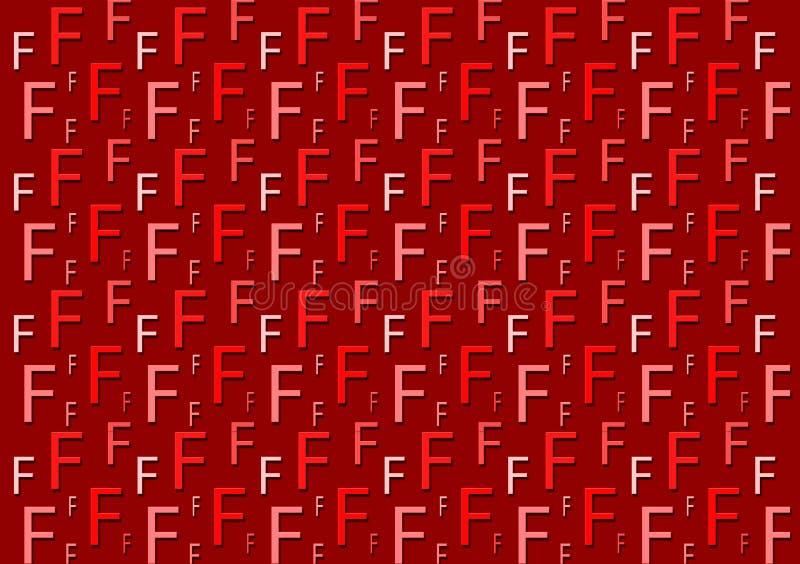 Brievenf patroon in verschillende gekleurde rode schaduwen voor behang royalty-vrije illustratie