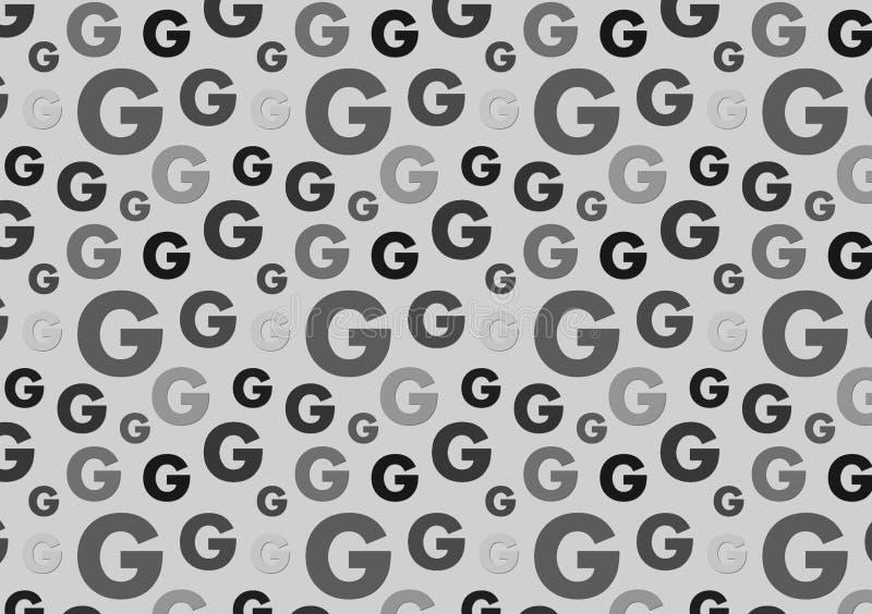 Brieveng patroon in het verschillende patroon van kleuren grijze schaduwen royalty-vrije illustratie