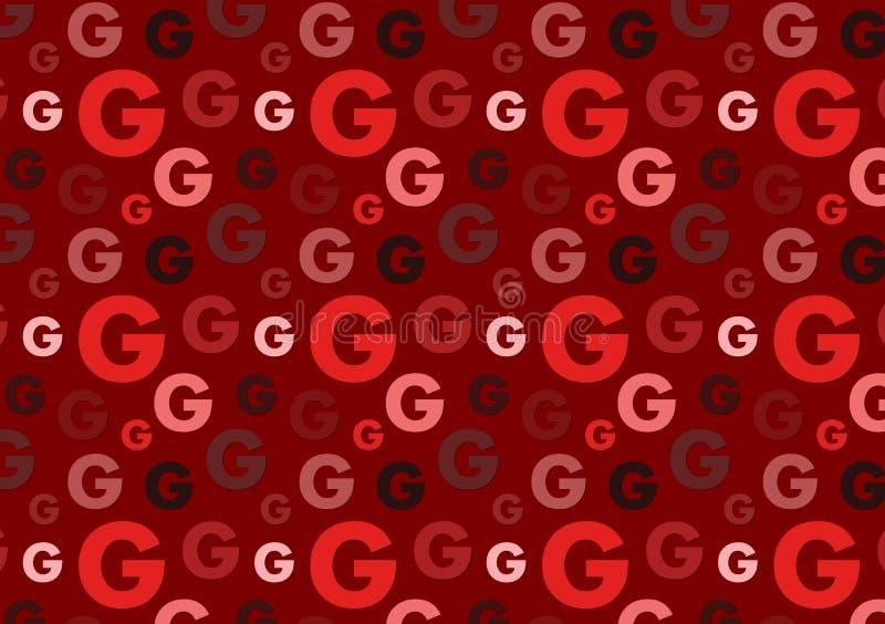 Brieveng patroon in het verschillende patroon van kleuren rode schaduwen stock illustratie
