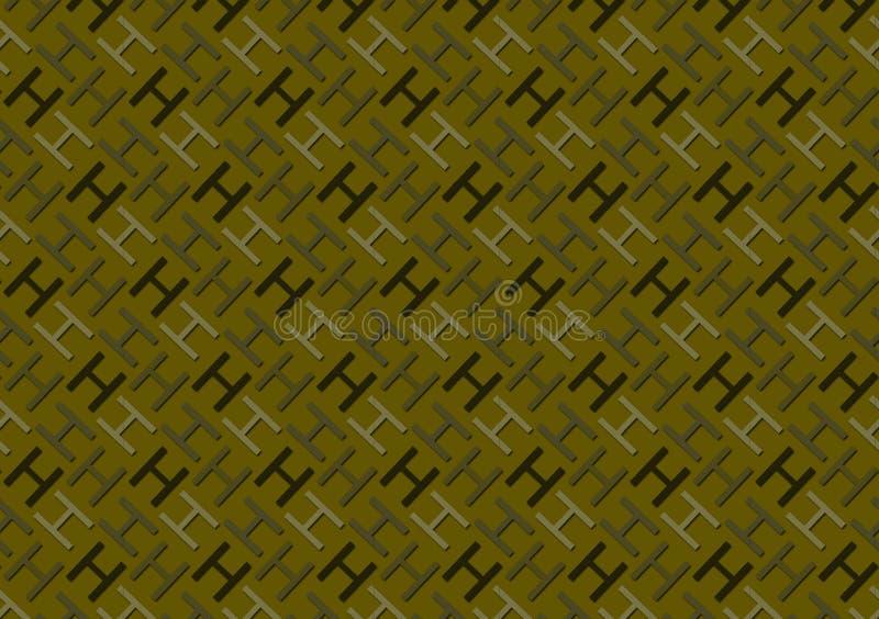 Brievenh patroon in verschillende gekleurde schaduwen voor behang stock illustratie