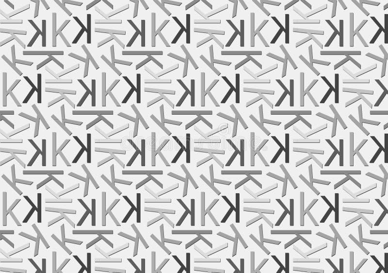 Brievenk patroon in verschillende gekleurde grijze schaduwen voor behang vector illustratie