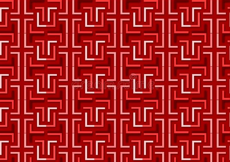 Brievenl patroon in verschillende gekleurde rode schaduwen vector illustratie