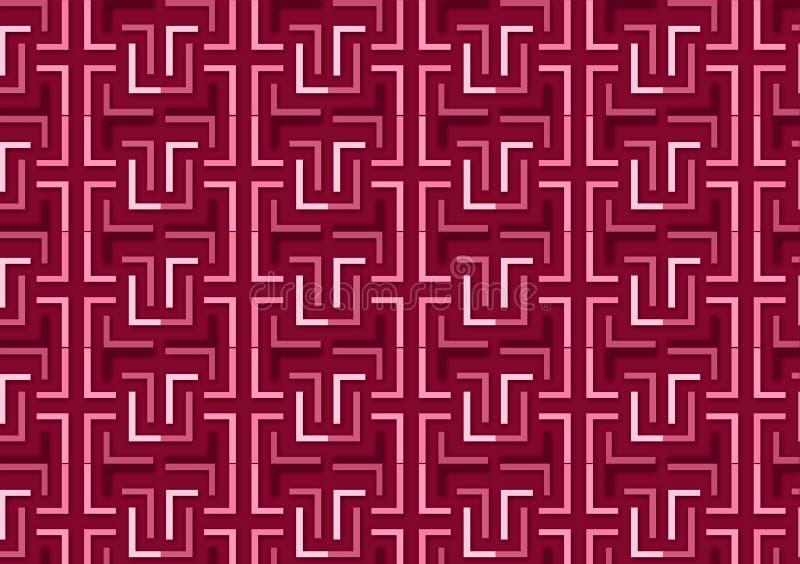Brievenl patroon in verschillende gekleurde roze schaduwen vector illustratie