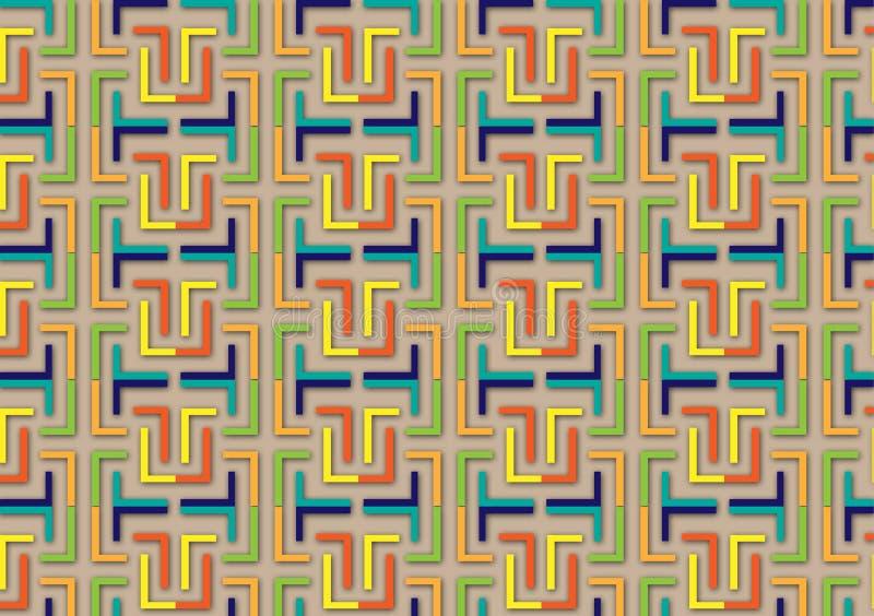 Brievenl patroon in verschillende gekleurde schaduwen stock illustratie