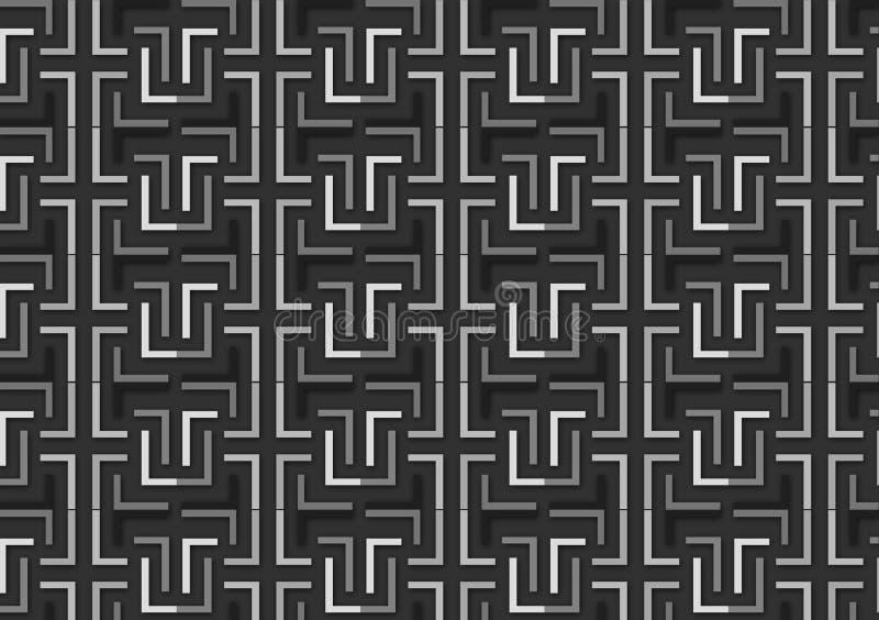 Brievenl patroon in verschillende grijze gekleurde schaduwen royalty-vrije illustratie