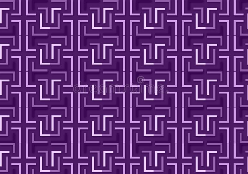 Brievenl patroon in verschillende purpere gekleurde schaduwen royalty-vrije illustratie