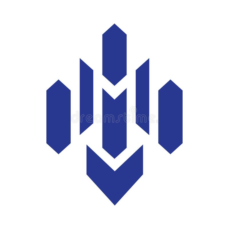 Brievenm Blue Logo vector vector illustratie