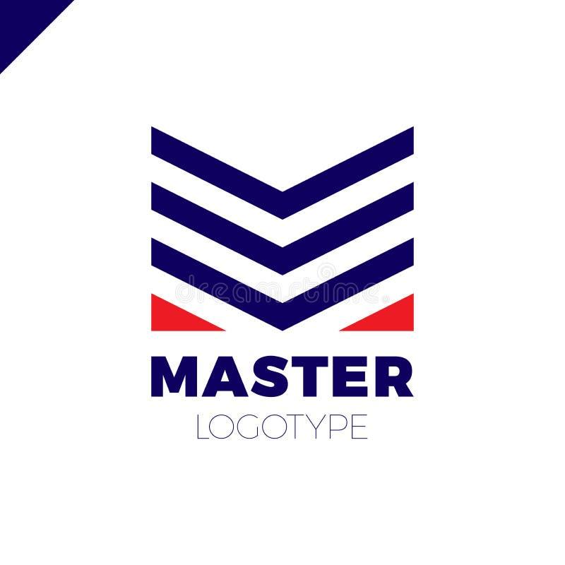 Brievenm Logo teken Abstracte bedrijfsontwerp logotype vector stock illustratie
