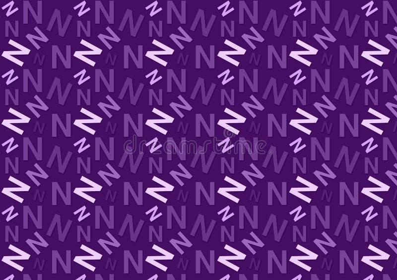 Brievenn patroon in verschillende gekleurde purpere schaduwen voor behang royalty-vrije stock foto's