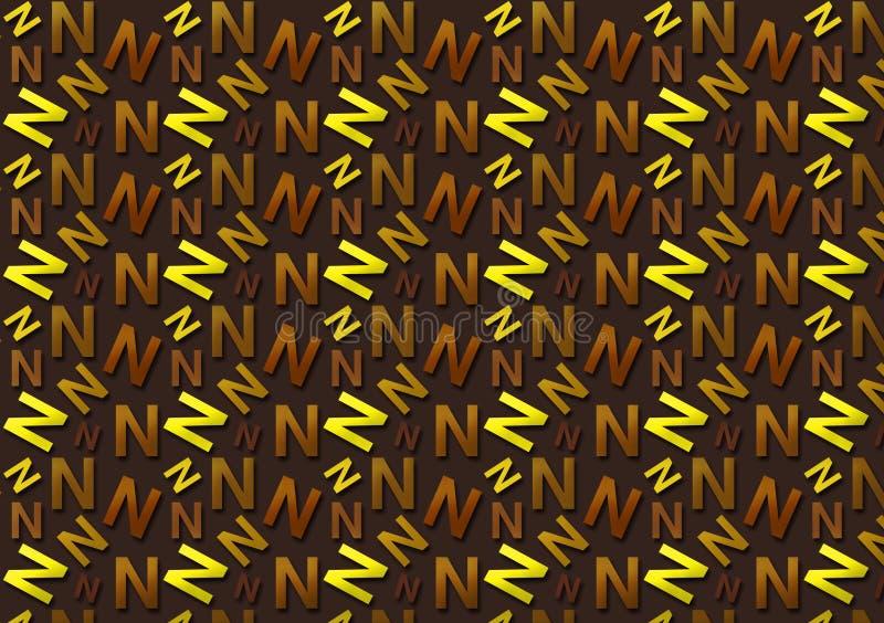 Brievenn patroon in verschillende gekleurde schaduwen voor behang royalty-vrije stock fotografie