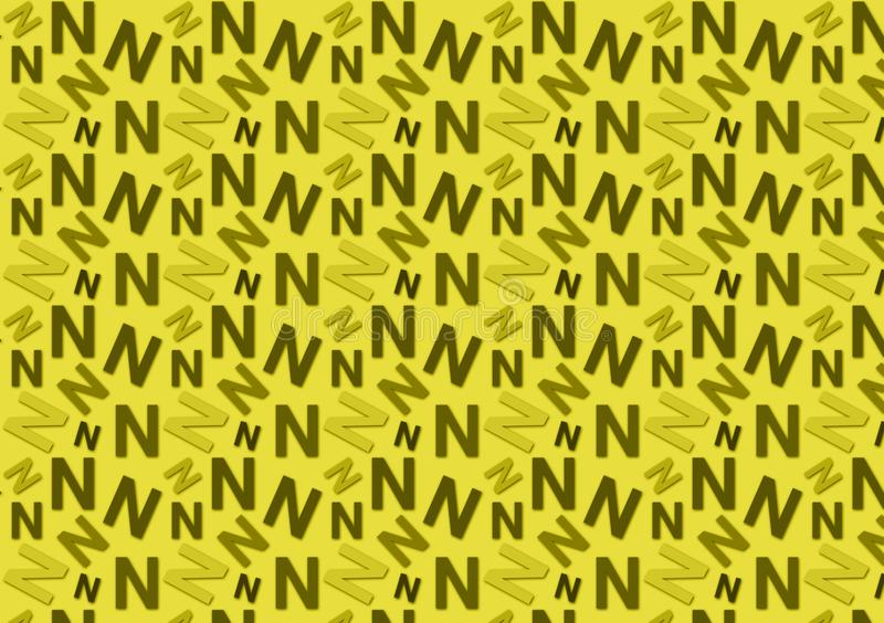 Brievenn patroon in verschillende gekleurde schaduwen voor behang royalty-vrije stock afbeelding