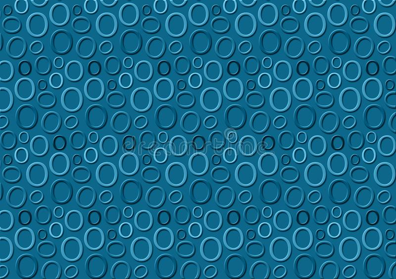 Brieveno patroon in verschillende gekleurde blauwe schaduwen voor behang royalty-vrije illustratie