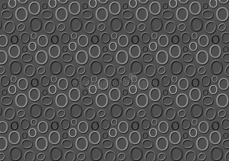 Brieveno patroon in verschillende gekleurde grijze schaduwen voor behang royalty-vrije illustratie