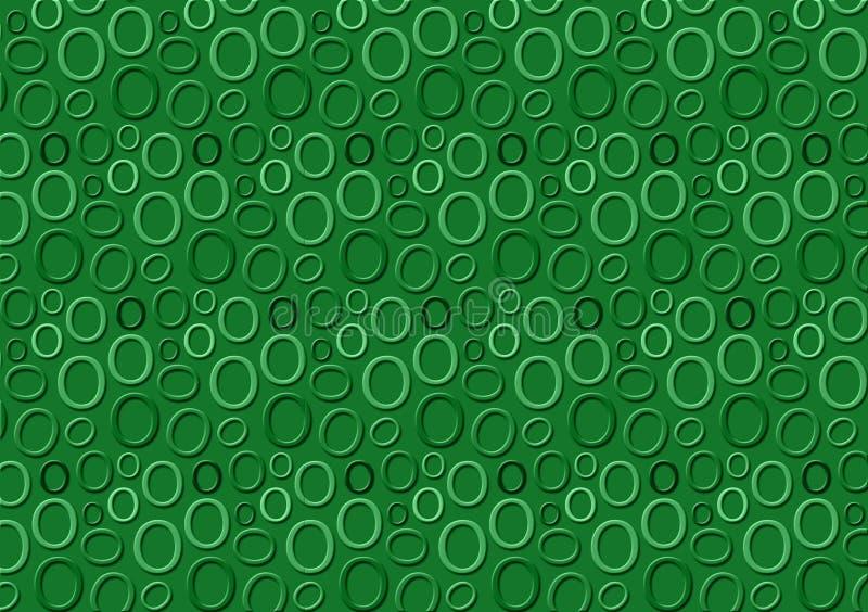 Brieveno patroon in verschillende gekleurde groene schaduwen voor behang vector illustratie