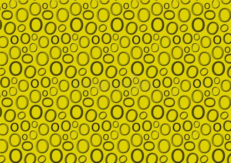 Brieveno patroon in verschillende gekleurde groene schaduwen voor behang stock illustratie