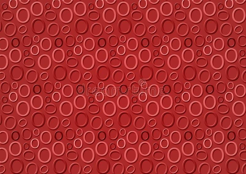 Brieveno patroon in verschillende gekleurde rode schaduwen voor behang royalty-vrije illustratie